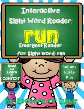 Interactive Sight Word Reader and Crown: Sight Word RUN