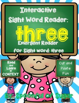 Interactive Sight Word Reader and Crown: Sight Word THREE