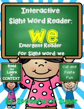 Interactive Sight Word Reader and Crown: Sight Word WE