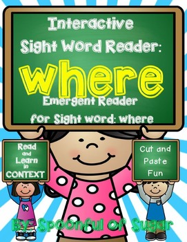 Interactive Sight Word Reader and Crown: Sight Word WHERE