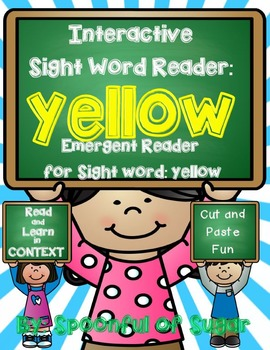 Interactive Sight Word Reader and Crown: Sight Word YELLOW