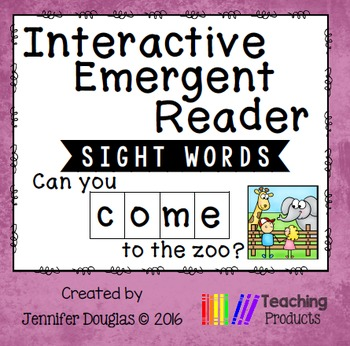 Sight Word Emergent Reader - Sight Word COME