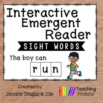 Interactive Emergent Sight Word Reader - the boy can RUN
