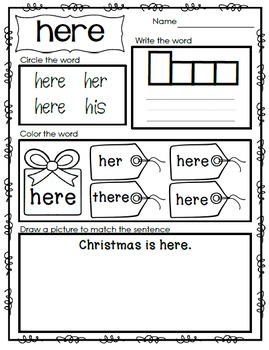 Emergent Reader - Sight Word HERE
