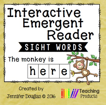 Interactive Emergent Sight Word Reader - the monkey is HERE
