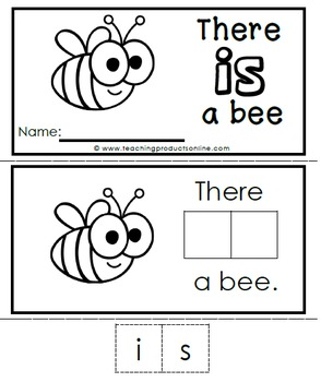 Interactive Emergent Sight Word Reader - there IS a bee