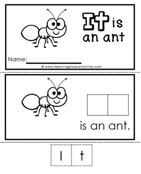 Interactive Emergent Sight Word Reader - IT is an ant