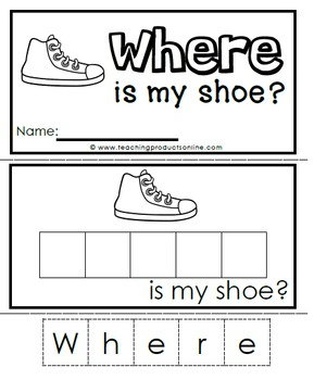Sight Word Emergent Reader - Sight Word WHERE