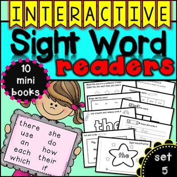 Interactive Sight Word Readers SET FIVE {10 books}