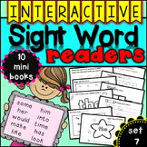 Interactive Sight Word Readers SET SEVEN {10 books}