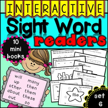 Interactive Sight Word Readers SET SIX {10 books}