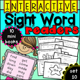 Interactive Sight Word Readers SET TEN {10 books}