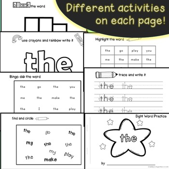 Interactive Sight Word Readers SET THREE {10 books}