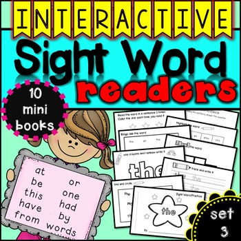 Interactive Sight Word Readers SET THREE {10 books}