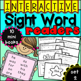 Interactive Sight Word Readers SET TWO {10 books}