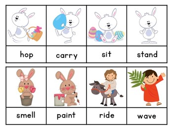Interactive Sight Word Sentences:  Easter Vocabulary