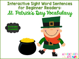 Interactive Sight Word Sentences:  St. Patrick's Day Vocabulary