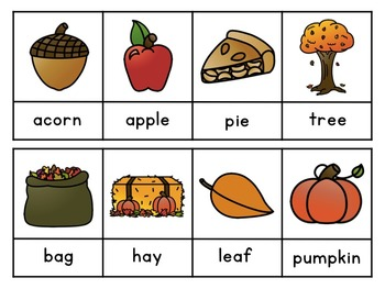 Interactive Sight Word Sentences for Beginner Readers:  Fall Vocabulary