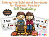 Interactive Sight Word Sentences for Beginner Readers:  Fa