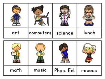 Interactive Sight Word Sentences for Beginner Readers:  School Vocabulary