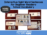 Interactive Sight Word Sentences for Beginner Readers:  Sc