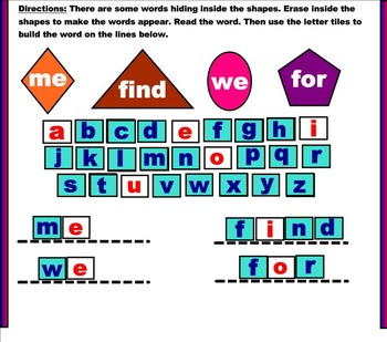Smart Board Sight Words Practice | Fun Sight Words Activity Smart Notebook