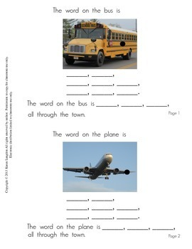 Sight Words Book - Interactive Book for Emergent Readers