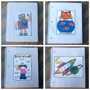 Interactive Sight Words Notebook Pre-Primer Set 1