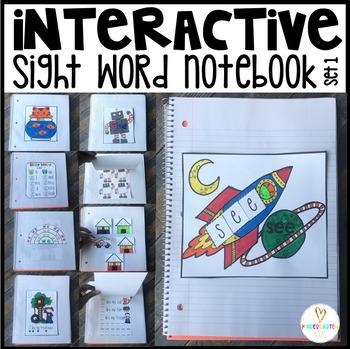 Interactive Sight Words Notebook Pre-Primer Set 1
