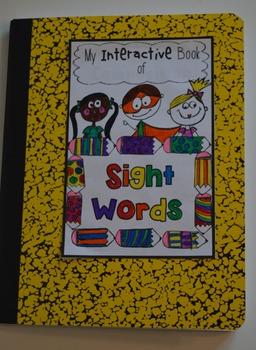 Interactive Sight Words Notebook Pre-Primer Set 4 Kindergarten