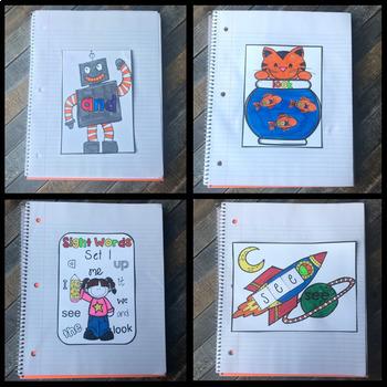 Interactive Sight Words Notebook Pre-Primer {Bundle}