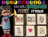 Interactive Sight Words Notebook Primer Freebie