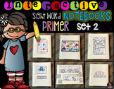 Interactive Sight Words Notebook Primer Set 2