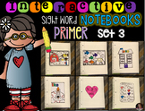 Interactive Sight Words Notebook Primer Set 3
