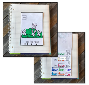 Interactive Sight Words Notebook Primer Set 4