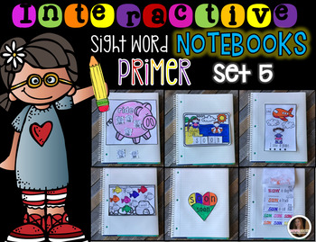 Interactive Sight Words Notebook Primer Set 5