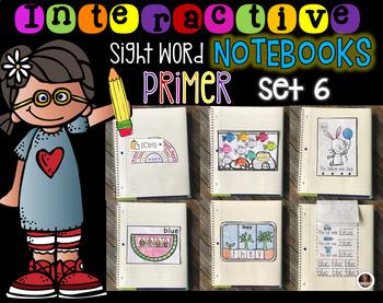 Interactive Sight Words Notebook Primer Set 6