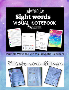 Interactive Sight Words Visual Notebook