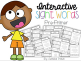 Interactive Sight Words Word Work {Pre-Primer}