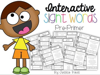 Interactive Sight Words Word Work {Pre-Primer}