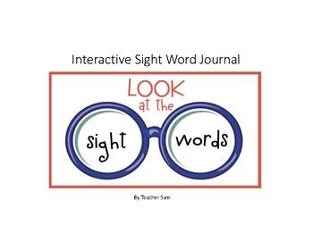 Interactive Sight word Journal