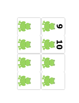 Interactive Singing Song Visual Support Five Little Speckled Frogs
