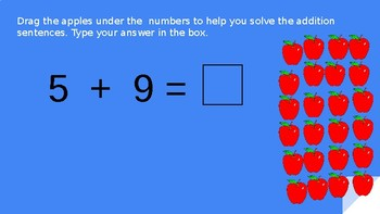 Interactive Single Digit Addition with Apples
