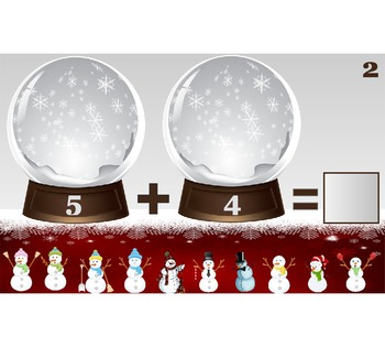 Interactive Snowman Addition Sampler, PDF: No SmartBoard s