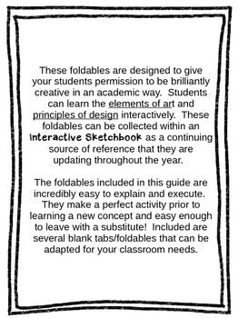 Interactive Sketchbook Foldables