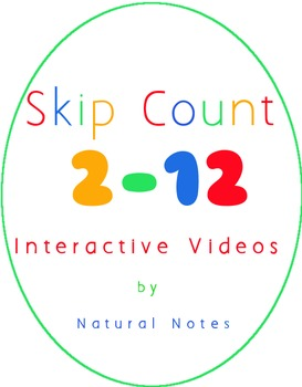Interactive Skip Counting Videos for Multiplication 2 - 12
