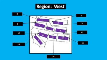 Interactive Smart-board Ppt. and more teaching U.S. Regions: West and Southwest
