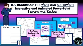 Interactive Smart-board Ppt. and more teaching U.S. Region