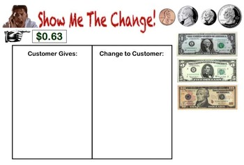 Interactive SmartBoard Activity: Make My Change! Game/Activity