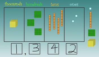 Interactive SmartBoard Place Value Blocks (Editable)